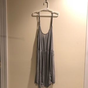 Brandy Melville Black Stripped Flowy Dress
